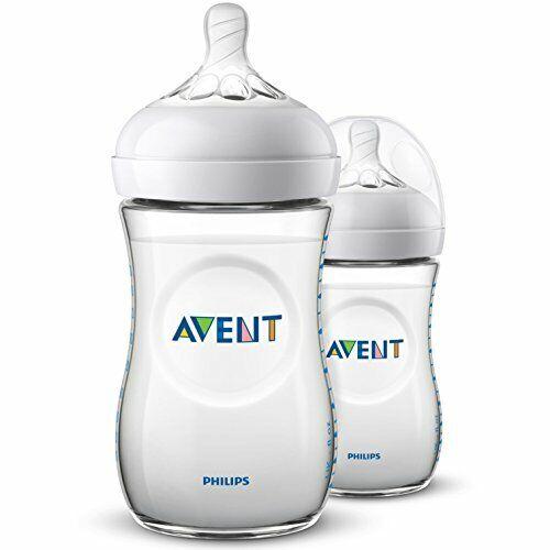 27-260 ml natural baby bottle Pack of 2 baby bottles, Philips Avent SCF033