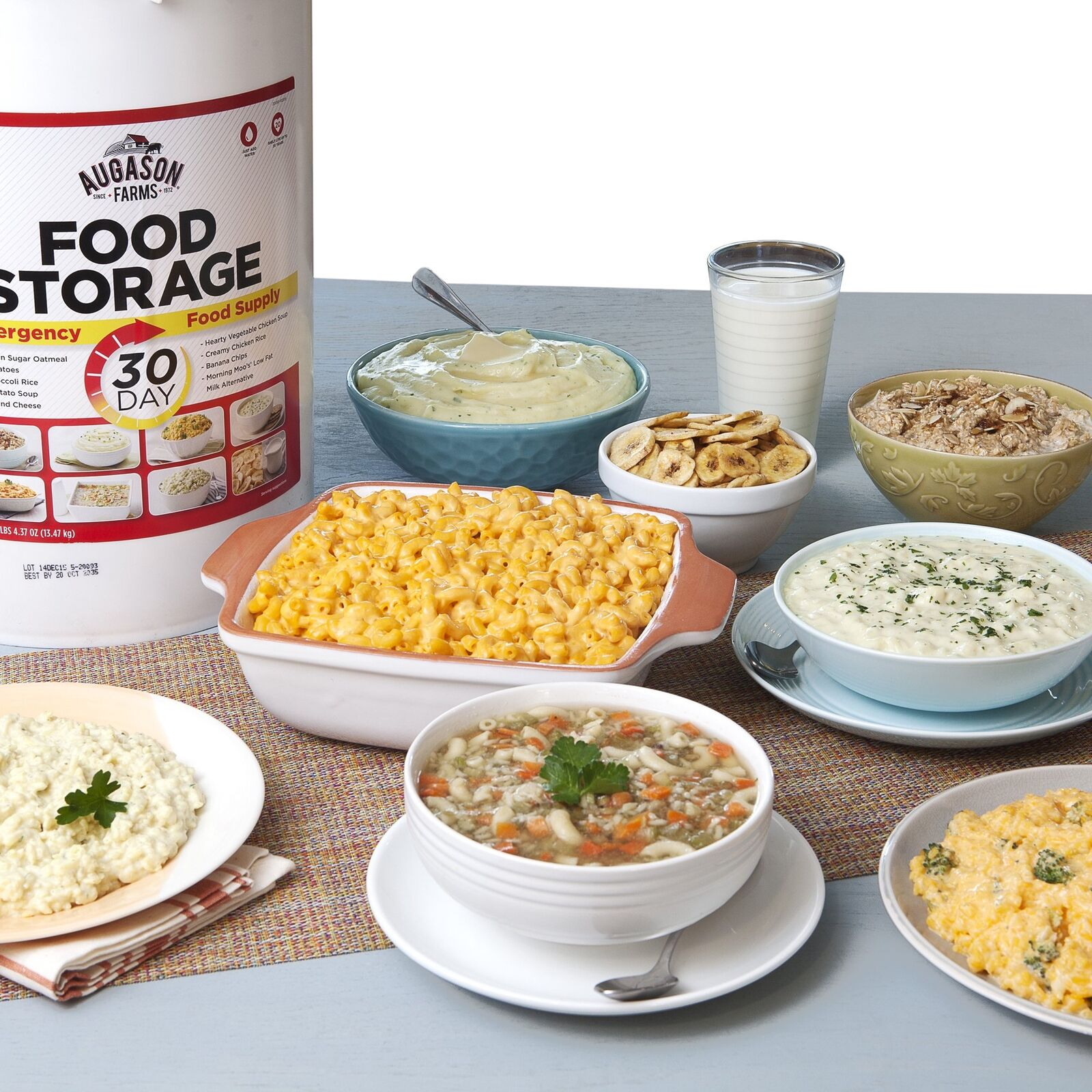 Emergency Food Storage Pail Freeze-Dried Food Camping Supplies