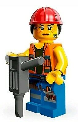 Lego MOVIE Gail the Construction Worker City Town Lady Female Minifigure 71004