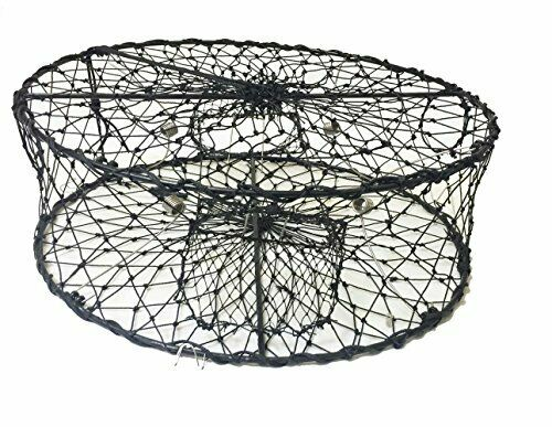 KUFA Sports Foldable Crab Trap with 3 Durable Stainless Steel Spring CT50