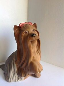 Vintage-Beswick-England-Hand-Painted-Figurine-Yorkshire-Terrier-Dog-5-5-034-Tall