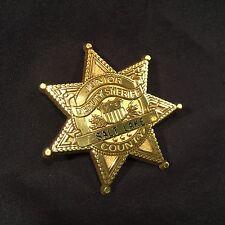 Vtg Toy Badge Plastic Sheriff Salt Lake County USA Junior Deputy