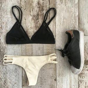 8846a86e3 Image is loading Sexy-Women-Swimsuit-Padded-Swimwear-Bikini-Thong-Bathing-