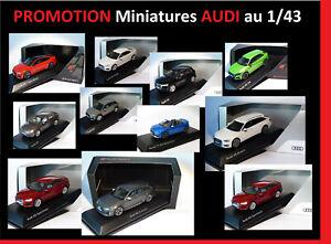DESTOCKAGE miniatures AUDI au 1//43 A1 A4 A5 A6 A7 Q2 Q3 Q5 Q7 Q8 TT R8 RS Avant