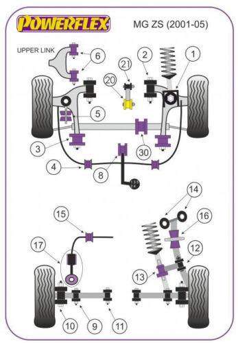 POWERFLEX REAR TRAILING ARM MOUNT BUSH CRX  PFR25-113 MG ZS HONDA CIVIC