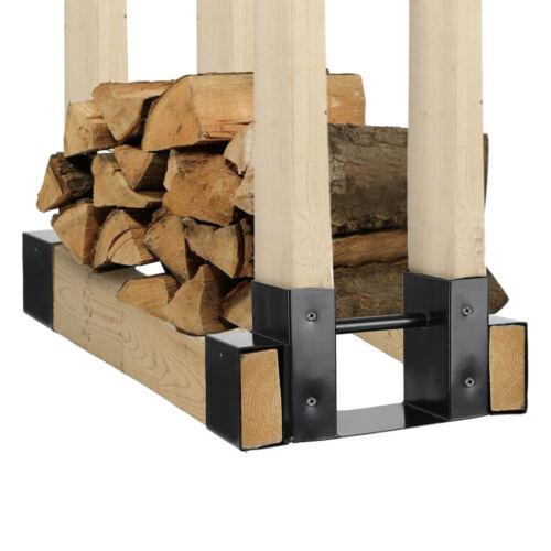 2xOutdoor Firewood Log Rack Bracket Kit Adjustable Fireplace Wood Storage Holder