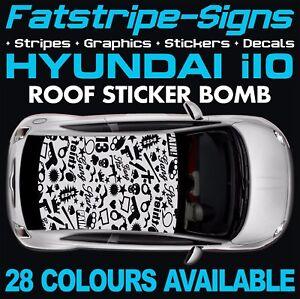 HYUNDAI i10 GRAPHICS STICKER BOMB ROOF DECALS STRIPES KAPPA GRAND ...