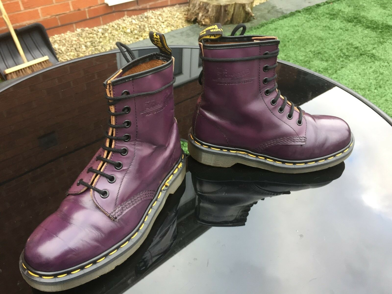 Vintage Dr Martens 1460 UK purple arcadia leather boots UK 1460 4 EU 37 Made in England b5ff11