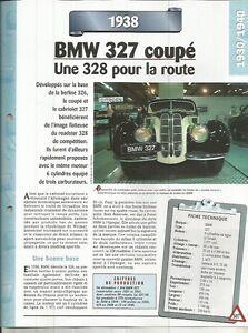 Adaptable Fiche Automobile - Bmw 327 Coupe 1938 Valeur Formidable