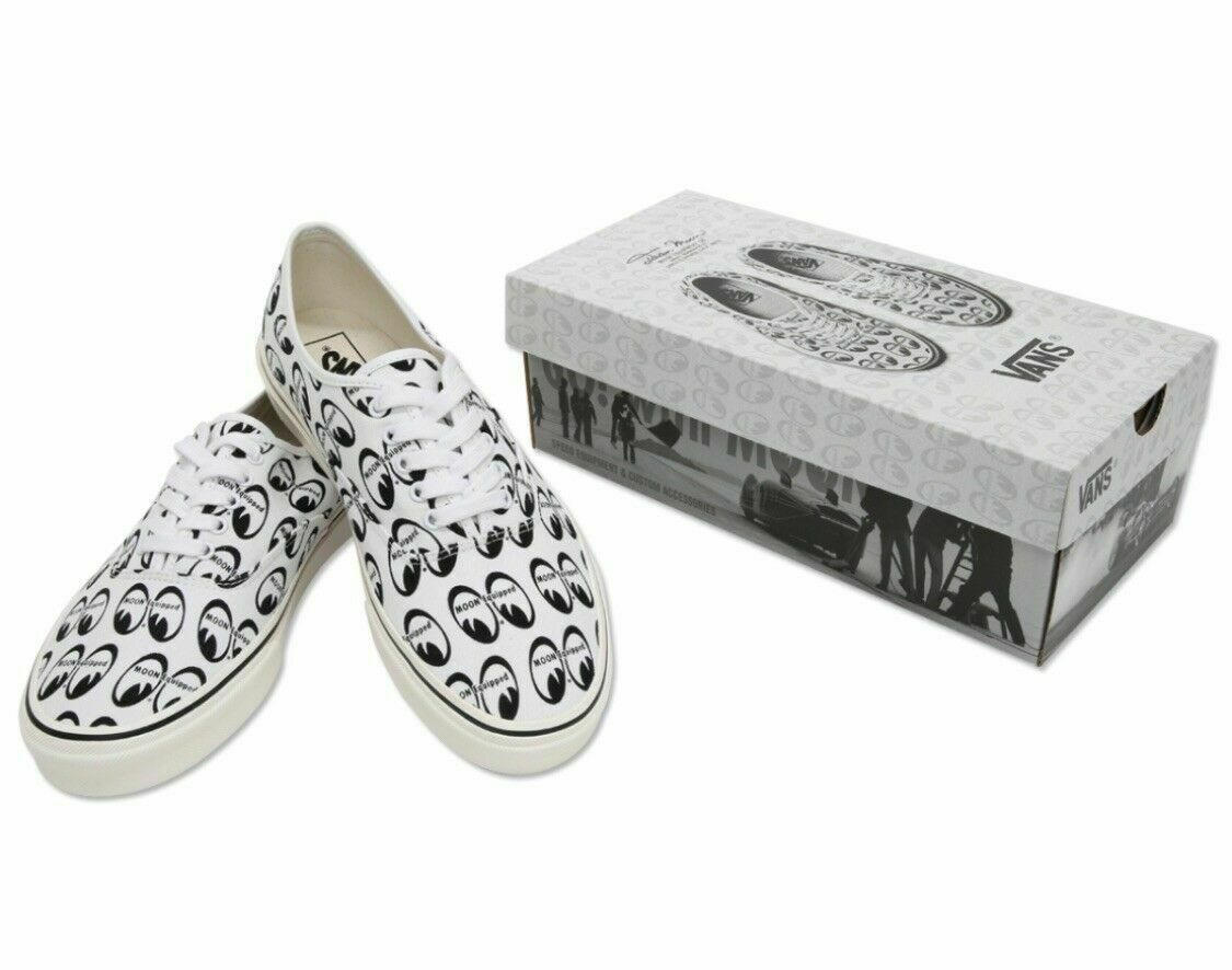 VANS × MOONEYES SNEAKERS SHOES HOT ROD RACING SHOP SIZE 7 NEW IN BOX RARE