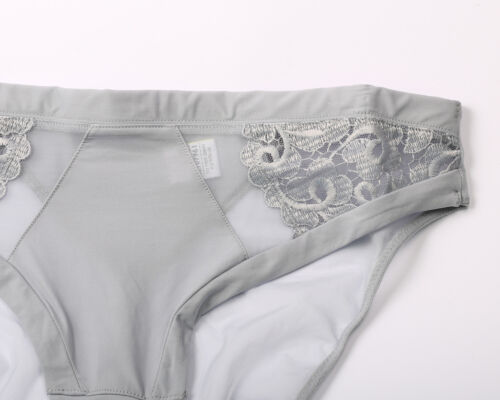 Ex M/&S Platinum High Leg Knickers with Lace Size 10