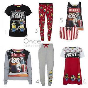 3089d4daf58be Details about PRIMARK Ladies MINIONS MOVIE NIGHT CHILL OUT PJ Collection  Leggings T-Shirt
