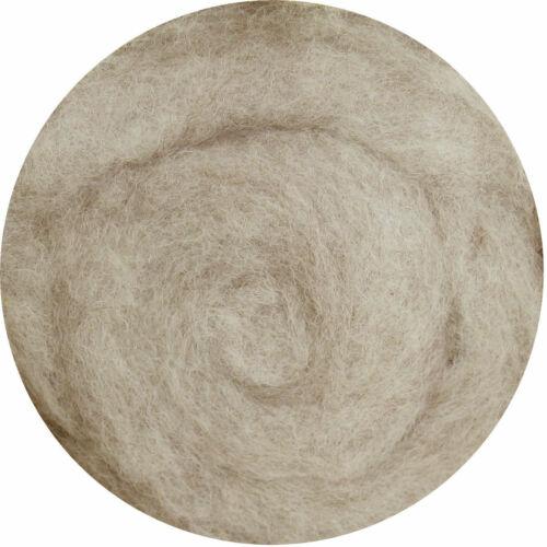 Filzwolle 100/% Wolle zum Filzen Trockenfilzen Nassfilzen Beige Grau Mix