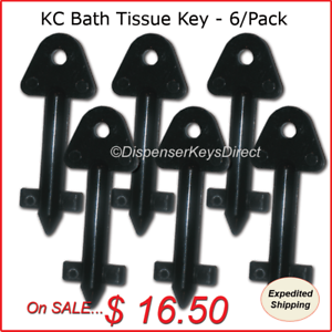 Kimberly Clark #770767 6//pk. Hand Towel /& Bath Tissue Dispenser Key
