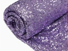 """Lavender SEQUINED FABRIC Bolt 54"""" x 4 yards DIY Wedding Party Crafts Costume Sew"""
