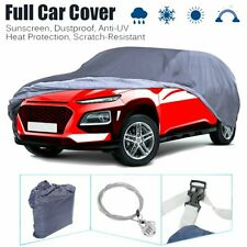 Full Suv Car Cover Withlock Waterproof Breathable Sun Uv Rain Dust Resistant Blue Fits Jeep