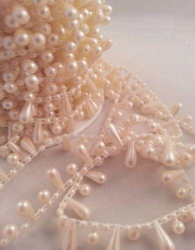 Tear drop Perles Chaîne Perles Gâteau Bordure à Coudre Craft Mariage Bridal