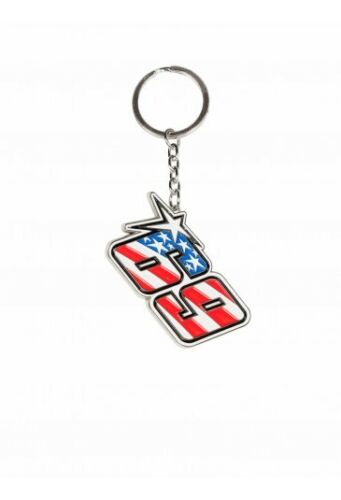 18 54001 Official Nicky Hayden Metal Key Ring