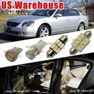 12 pc luxury white led lights interior package kit fit for - 2006 nissan altima interior led lights ...
