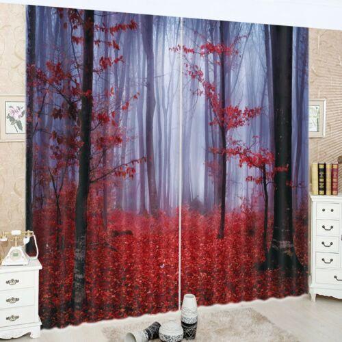 3D Castle Galaxy Unicorn Blockout Mural Print Decor Curtain Drapes Fabric Window