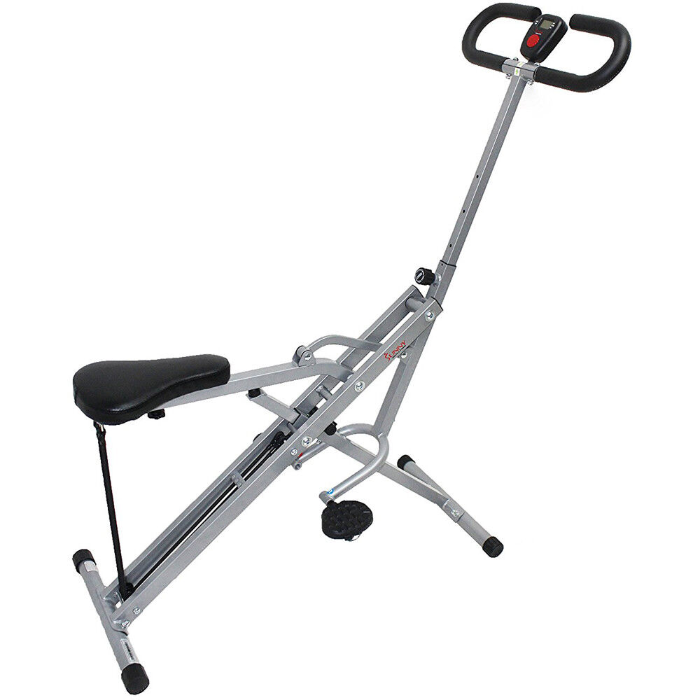 Sunny Health and Fitness Upright Squat Assist Row-N-Ride Trainer for Squat Exerc 2