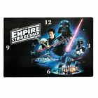 Star Wars Episode 5 The Empire Strikes Back Vintage Art Square Glass Wall Clock