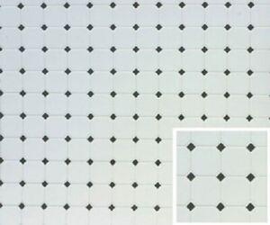 Dollhouse-Miniature-White-Tile-Floor-with-Black-Diamonds-60640-1-12-Scale