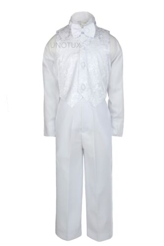 Baby Child Boys Christening Baptism Formal White Tuxedo Tails Suits Stole Sm-20