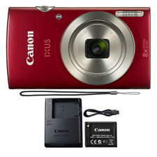 Canon PowerShot IXUS 185 / Elph 180 20MP Full HD 720p Compact Digital Camera Red