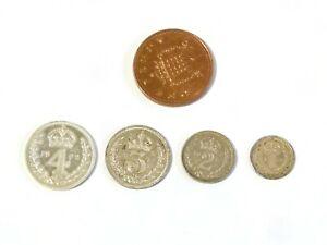 1972 SAINT Set Elizabeth II pièces en argent 4-3-2-1 pence #F22-afficher le titre d`origine