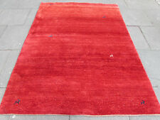 Old Traditional Hand Made Persian Oriental Wool Red Gabbeh Rug 233x172cm