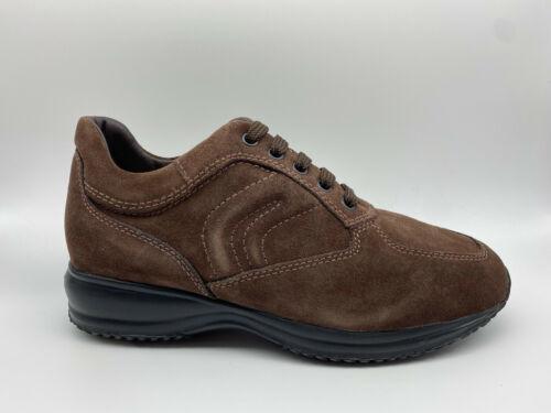 Scarpe Sneakers Geox Happy Camoscio marrone tipo Hogan Interactive €125-20/%