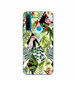 Coque-Redmi-NOTE-8T-perroquet-patchwork-flamant-exotique-tropical-geometrique