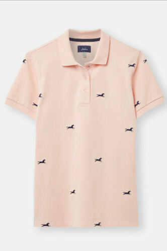 Joules Pippa Polo Top New Pink Horse