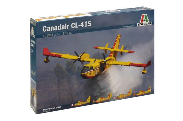 ITALERI 1362 1/72 BOMBARDIERE ANFIBIO ACQUA KIT MODELLO CANADAIR CL-415 BOMBARDIER