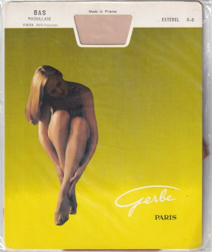 Bas voile GERBE MAQUILLAGE 15 D en 2 coloris Vintage stockings Made in France.