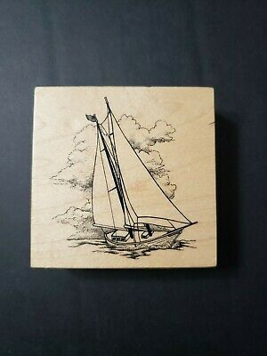 Beach Sayings Sea Shells Sailboat Nautical Unmounted Rubber Stamps Sheets