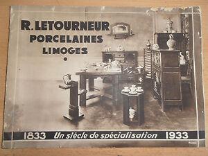 Rare Catalogue Luxe Porcelaines De Limoges Année 1933 ( Ref 18 ) X00tofg0-07235533-777401566