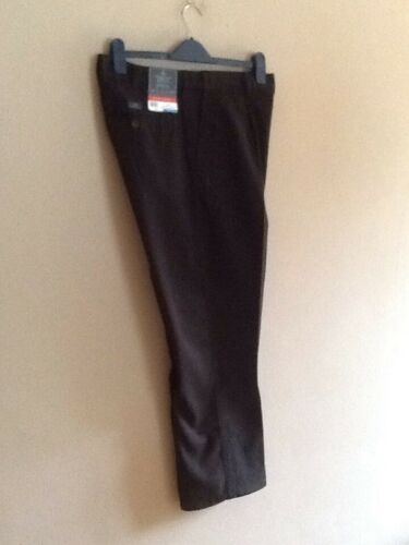 MENS BLACK CHINO PLEAT FRONT TROUSERS BY ATLANTIC BAY//BHS 44R BNWT