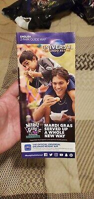 Mardi Gras Guide Map Brochure New 2021 Universal Studios Orlando 2 Park Ebay