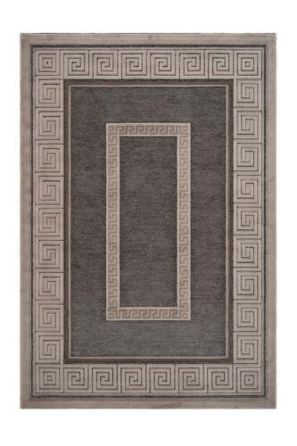 Teppich Ornament Klassisch Orientalisch Glanz 3D Design Beige Taupe 120x170cm