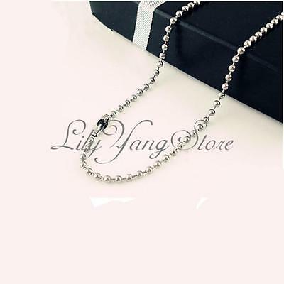 1/5/10Pcs Silver Ball Chains Nickel Plated 2.4mm Beads Necklaces Wholesale 50cm