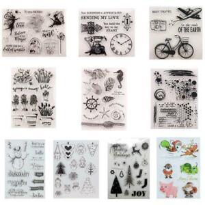 Transparentes Silikon Clear Stamp Cling Seal Sammelalbum Weihnachten Präge Z2R2