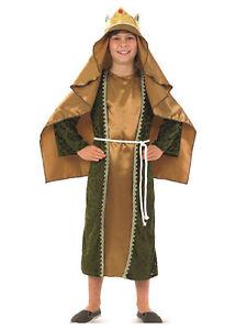 ragazzi-ragazze-bambini-ORO-UOMO-SAGGIO-Nativita-Natale-costume-vestito