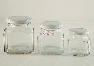 N°40 Vasetti modello QUADRO FIRENZE 106 ml con capsula per confetture marmellate