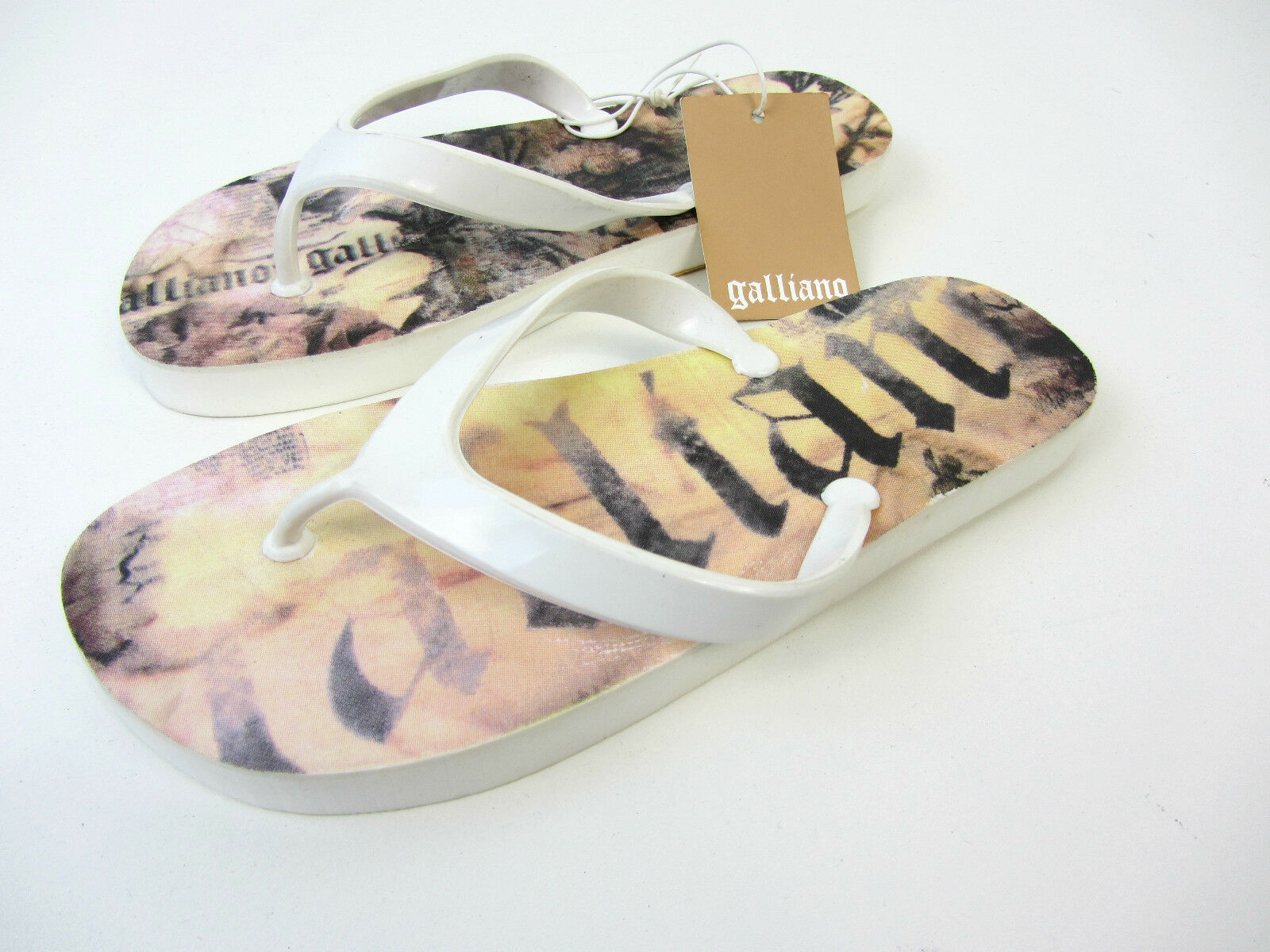 John Galliano Badeschuhe Zehentrenner Schuhe Neu 36 37 40