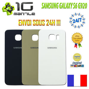 Vitre-Facade-Capot-Arriere-Cache-Batterie-SAMSUNG-GALAXY-S6-G920-F-Adhesif