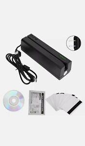 MSR605  Magnetic Card Reader Writer Encoder Stripe Swipe Credit USB 3 tracks