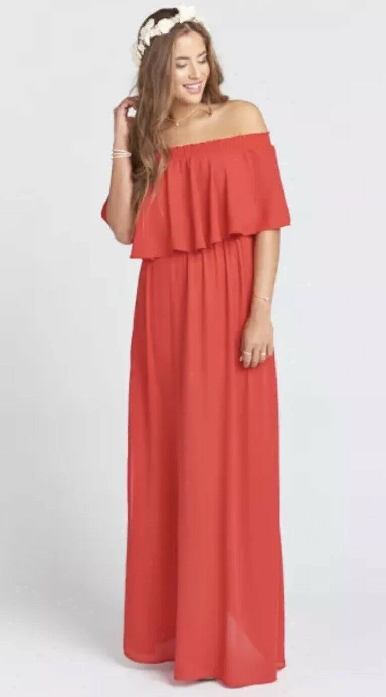 New Show Me Your Mumu Hacienda Maxi Gown Red Size Small S