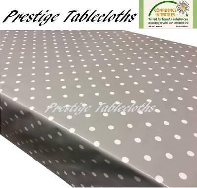 20 x 20 Small Dot Grey PVC Vinyl Oilcloth Wipe Clean Tablecloth 50cm x 50cm